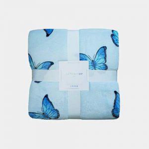 BUTTERFLY BLUE THROW 130x150cm