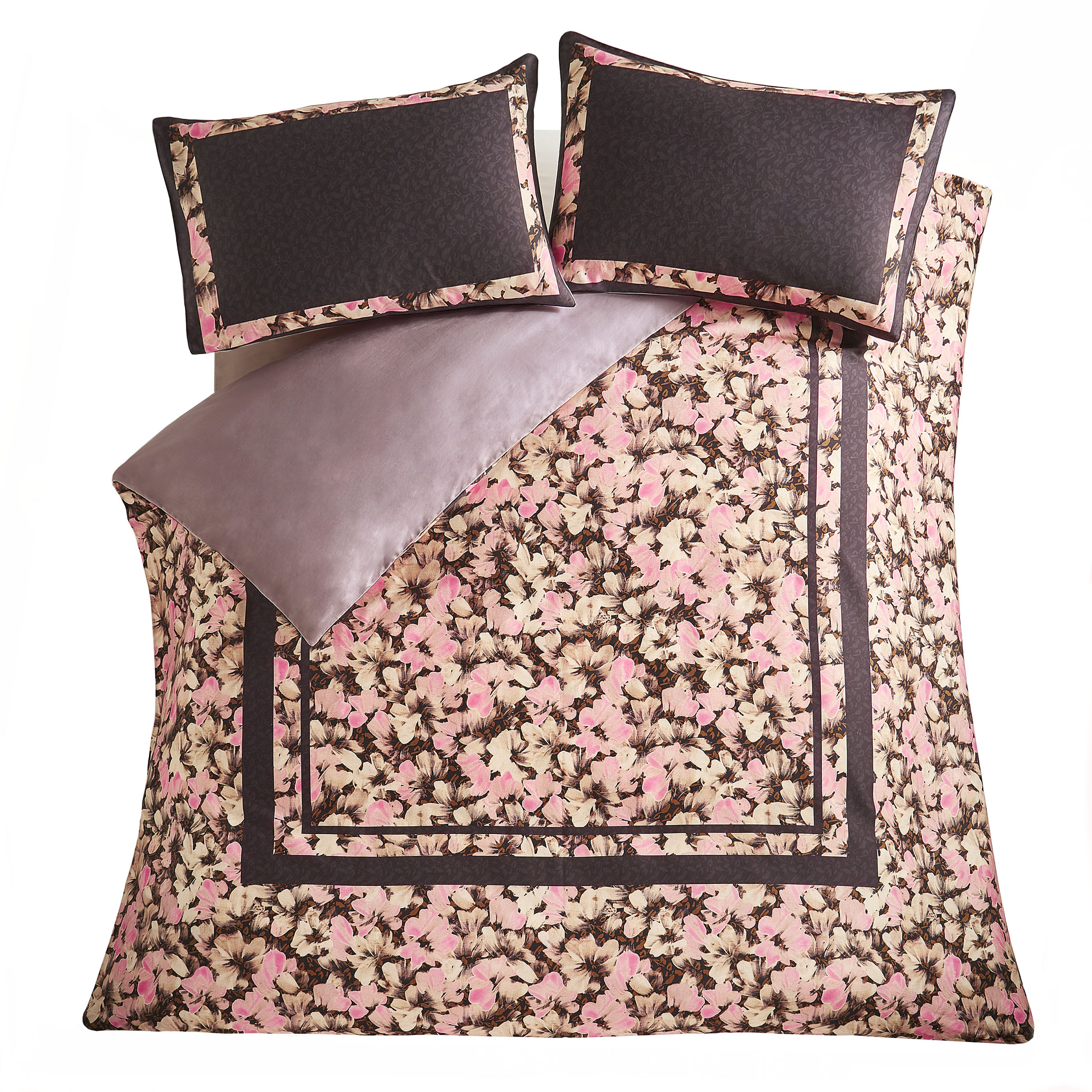 SMUDGE FLORAL DUVET COVER DOUBLE - COSMO