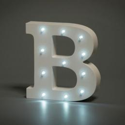 LED LETTER B