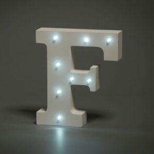 LED LETTER F