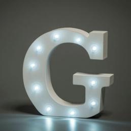 LED LETTER G