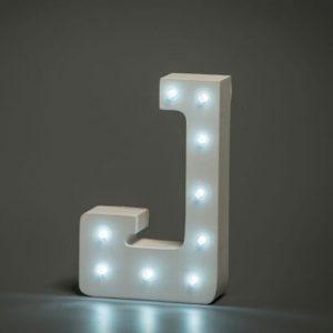 LED LETTER J