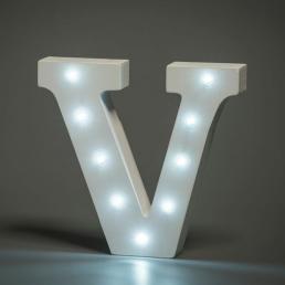 LED LETTER V