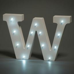 LED LETTER W