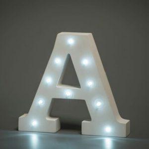 LED LETTER A