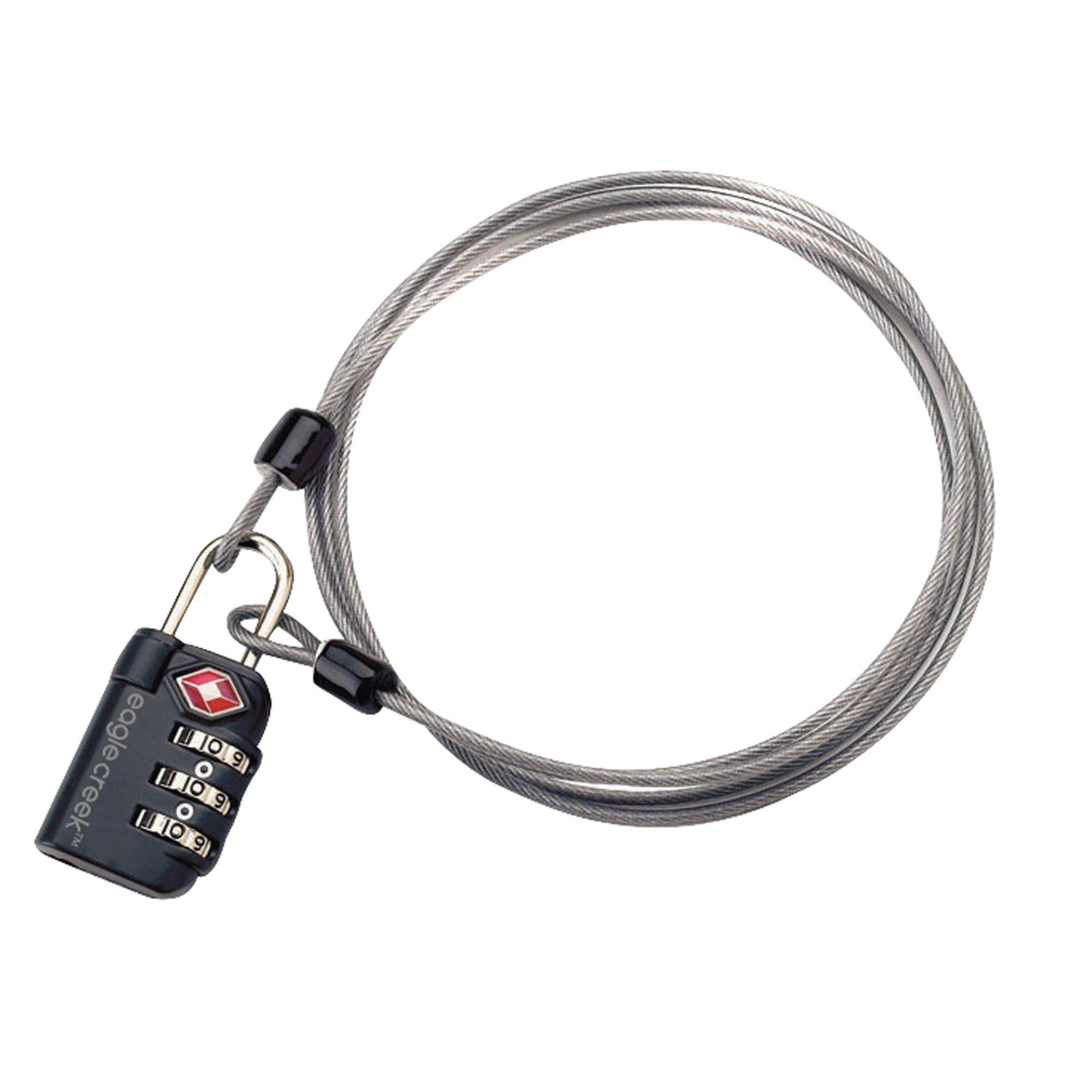 3-Dial TSA Lock & Cable