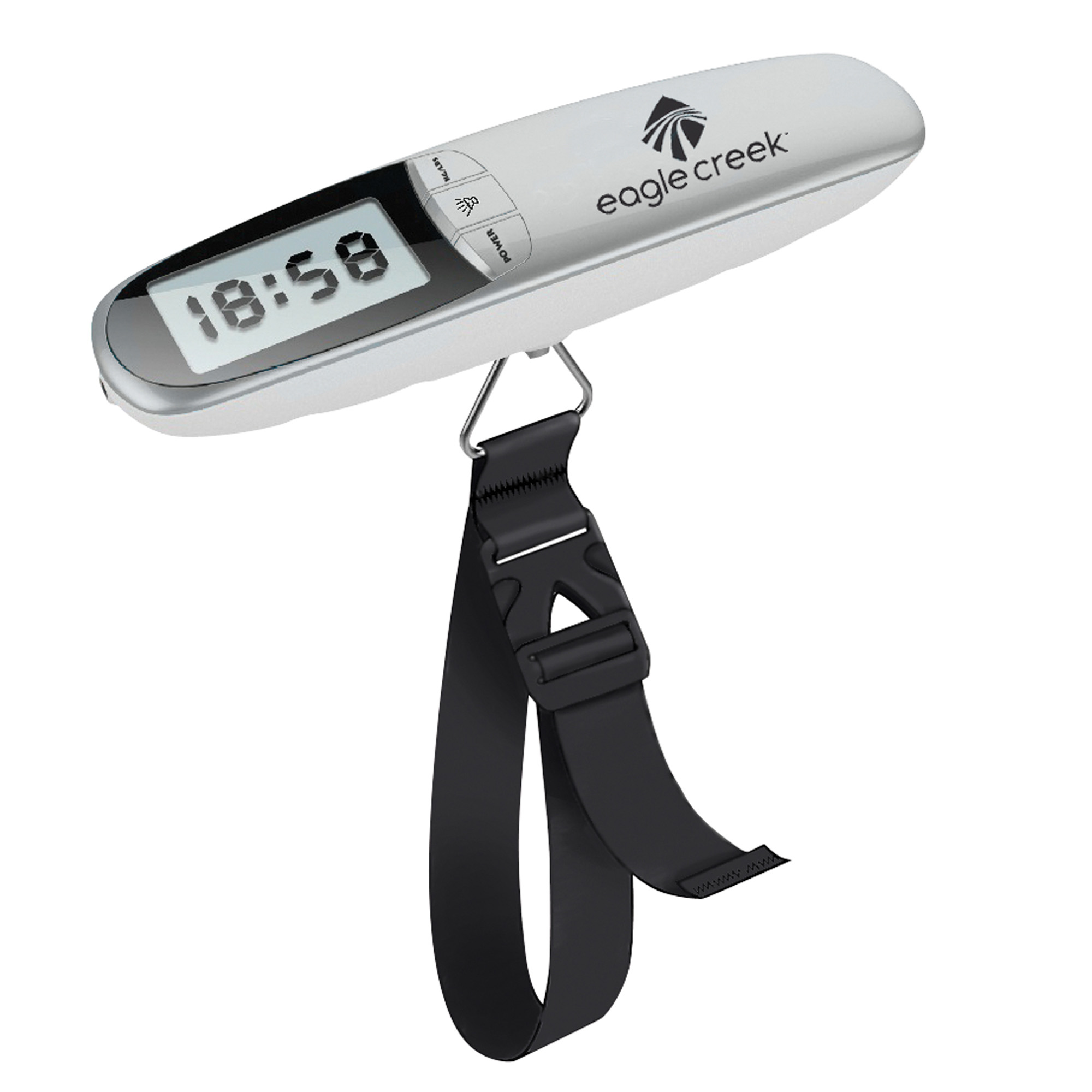 LUGGAGE SCALE/ALARM CLOCK CHARCOAL