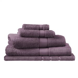 EGYPTIAN LUXURY BATH SHEET AUBERGINE
