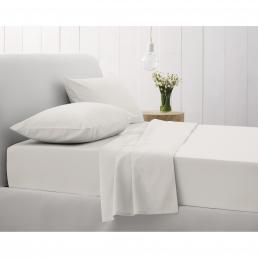 500TC FITTED SHEET SINGLE SNOW