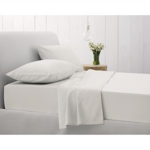 500TC FITTED SHEET KING SNOW