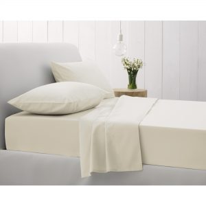 500TC FITTED SHEET SUPERKING CHALK