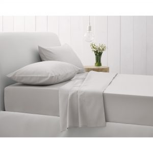 500TC FITTED SHEET SINGLE SILVER
