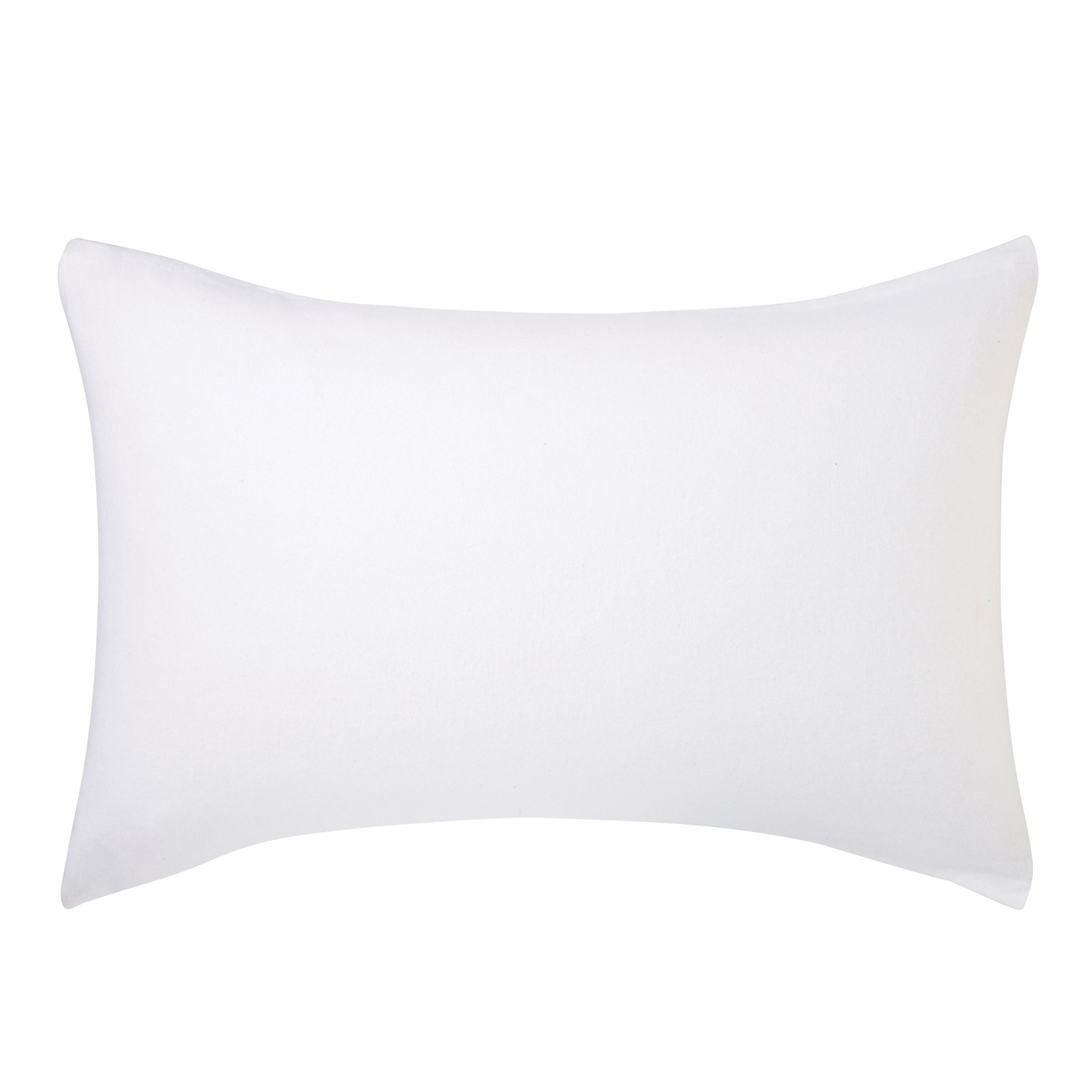 BRUSHED COTTON HOUSEWIFE PC PAIR WHITE