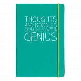 A5 Thoughts And Doodles Notebook Green